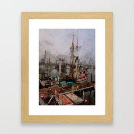 Fresh Live Crab! Framed Art Print