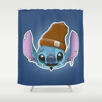 ohana Shower Curtains featuring Hipstitch by Micka Design