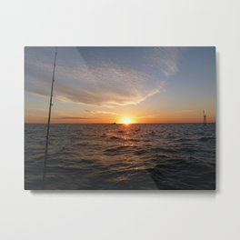This is the life - Setting Sun , Hervey Bay Qld Metal Print