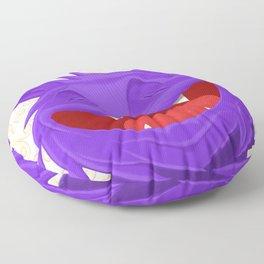 Anselmo the fat violet cat Floor Pillow