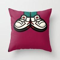 air jordan Throw Pillows featuring AIR JORDAN 2 by originalitypieces