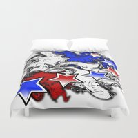 american Duvet Covers featuring AMERICAN  by Robleedesigns