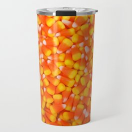 Background of Traditional Candy Corn Travel Mug