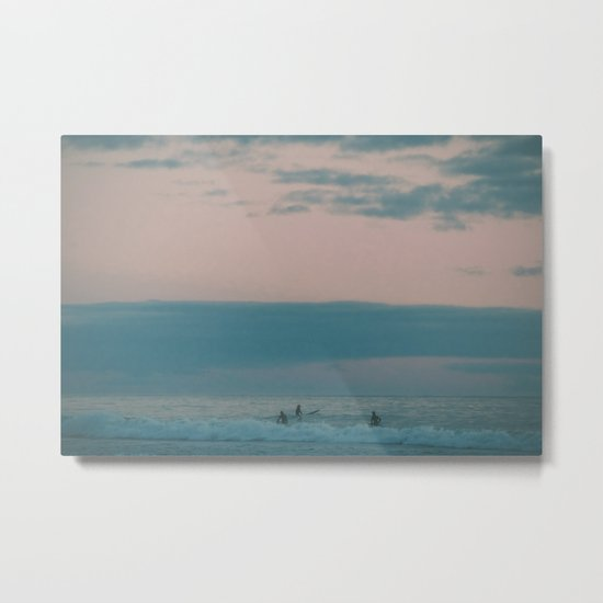 Sunset Surf Metal Print
