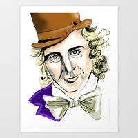 willy wonka Art Prints featuring Willy Wonka by Bubble Trump Ltd