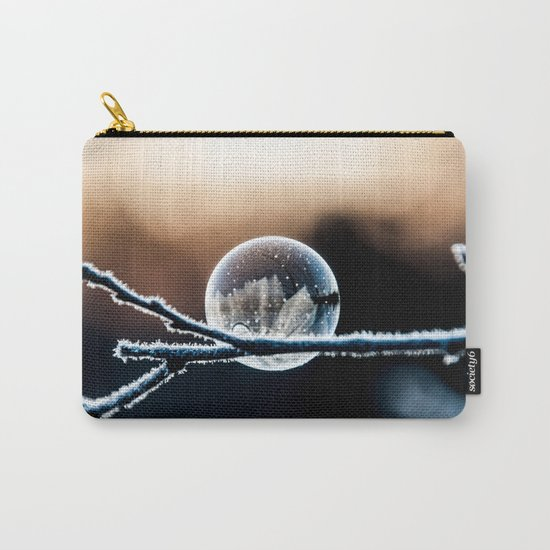 Wintry World in Frozen Bubble Carry-All Pouch
