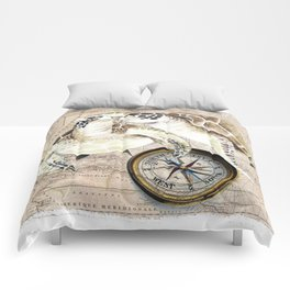 Sea Turtles Compass Map Comforters