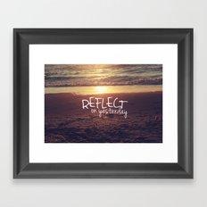 reflect on yesterday Framed Art Print