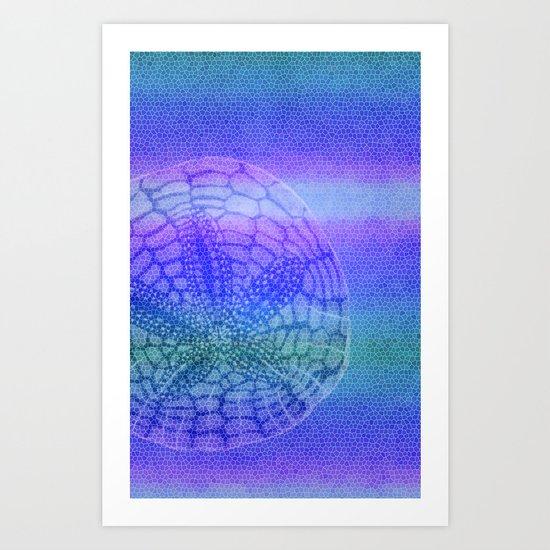 Sand Dollar Mosaic Art Print
