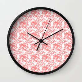 Soft seamless pink pattern with hearts Wall Clock