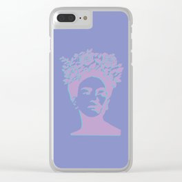 frida kahlo (purple version) Clear iPhone Case