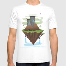 Save the Planet MEDIUM White Mens Fitted Tee