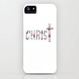 Merry Christ Mas Religious Christian Christmas iPhone Case
