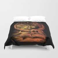 philosophy Duvet Covers featuring Philosophy by Cycoblast Artwork