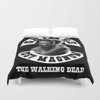 grimes Duvet Covers featuring Rick Grimes & .357 Magnum by GrOoVy Photo Art