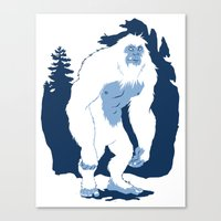 yeti Canvas Prints featuring Yeti by Rachel Young