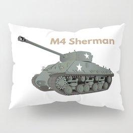 Sherman American WW2 Tank Pillow Sham