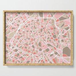 Paris City Map Art Serving Tray