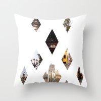 calendars Throw Pillows featuring Diamante by Delphine Comte