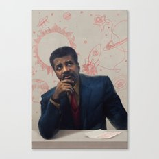 Neil Degrasse Tyson Portrait Canvas Print