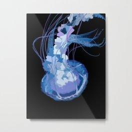 Jellyfish Flip Metal Print