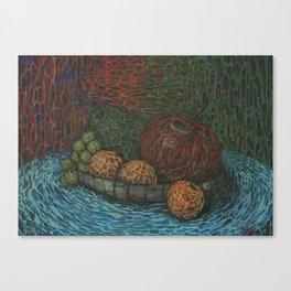 Spongy still life Canvas Print