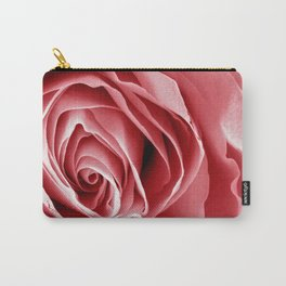 Pink Rose Macro Carry-All Pouch