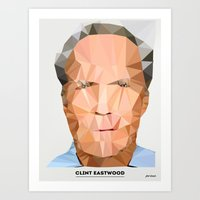 clint eastwood Art Prints featuring Clint Eastwood by feeldesain