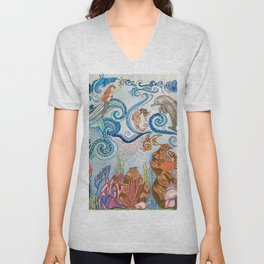 Ocean Zentangle Unisex V-Neck
