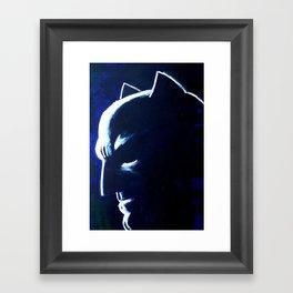 DARK HERO BLUE Framed Art Print