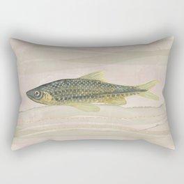 Carp Fish Swimming in Cloudy Water Rectangular Pillow