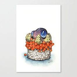 Octopus Sushi Canvas Print