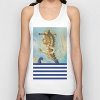 sea horse Tank Tops featuring Sea horse by Nataliya Derevyanko