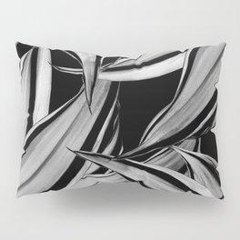 Dracaena Tropical Leaves Pattern Black & White #1 #tropical #decor #art #society6 Pillow Sham