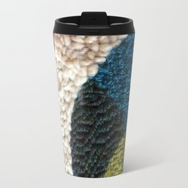 A Color Story Rug Hooked Art Metal Travel Mug