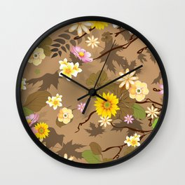 Imaginary Jungle 2 Wall Clock