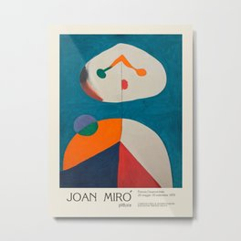 Joan Miro. Exhibition poster for Orsanmichele Church and Museum in Florence, 1979. Metal Print