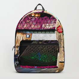 Glimmering Christmas Shopping Fronts Backpack