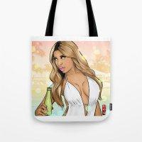 anaconda Tote Bags featuring Anaconda Oh my gosh by Akyanyme