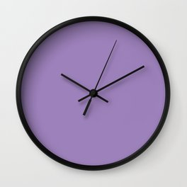 From The Crayon Box – Purple Mountains Majesty - Pastel Purple Solid Color Wall Clock