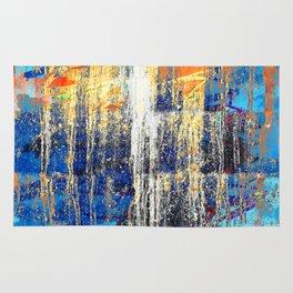 Golden Dawn, Abstract Landscape Art Rug