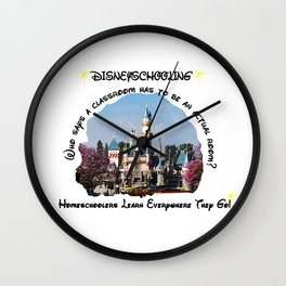 Homeschool Dis-Ney-School Who Says A Classroom Has to be an Actual Room Wall Clock