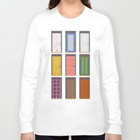 doors Long Sleeve T-shirts featuring Scary Doors by Raquel Segal