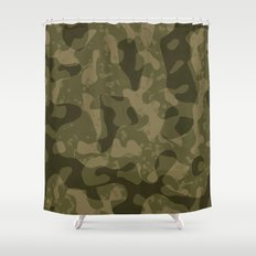 Camouflage Melt Shower Curtain