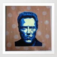 christopher walken Art Prints featuring christopher walken  by Leemarie