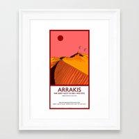 arrakis Framed Art Prints featuring Arrakis by Autunpurser