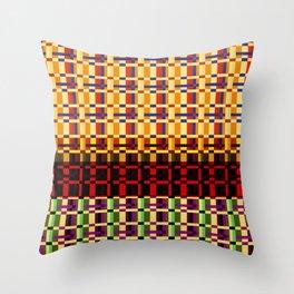 RETRO DIGITAL PATTERN Throw Pillow