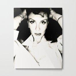Tara black and white Metal Print
