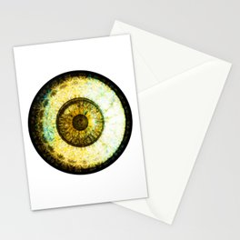 Golden Brown  Eyball Jewel Stationery Cards