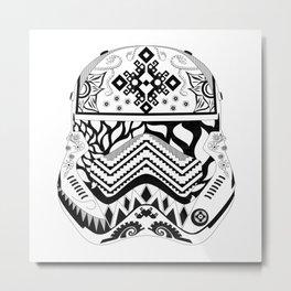 Floral Stormtrooper Metal Print